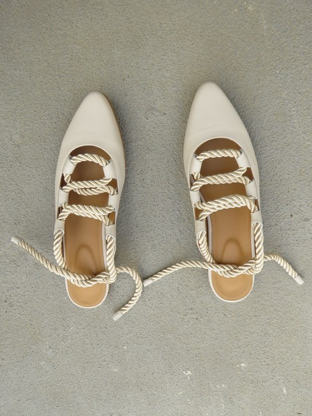 THE PALATINES PATINA - LUNA SMOOTH LEATHER / CHAMPAGNE SATIN CORD