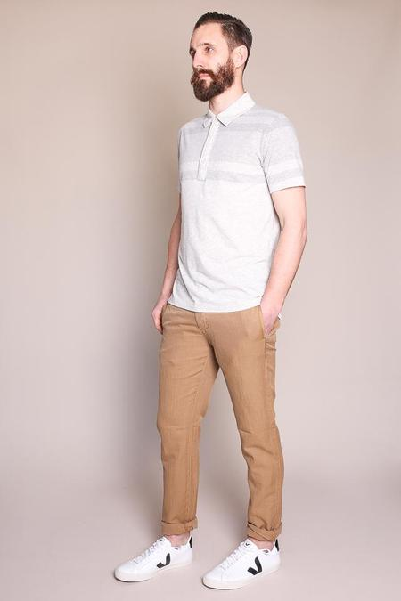 Billy Reid Gradient Polo in Natural/Light Grey