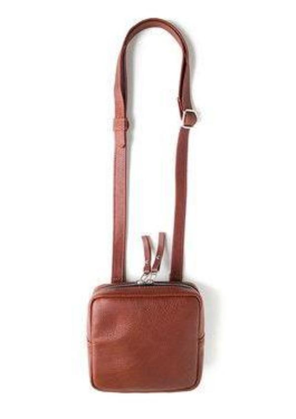 Woolfell Mini Sac A Main Carre Bag - Brun Cognac