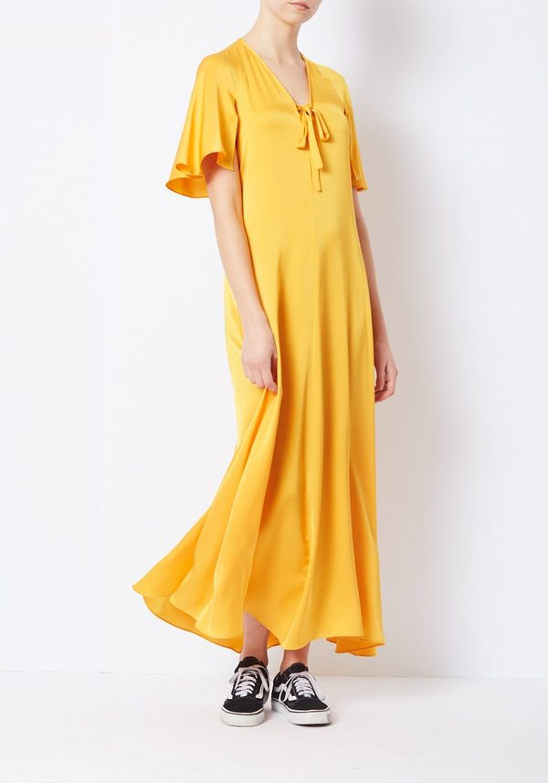 Creatures of Comfort Mango Silk Canter Dress
