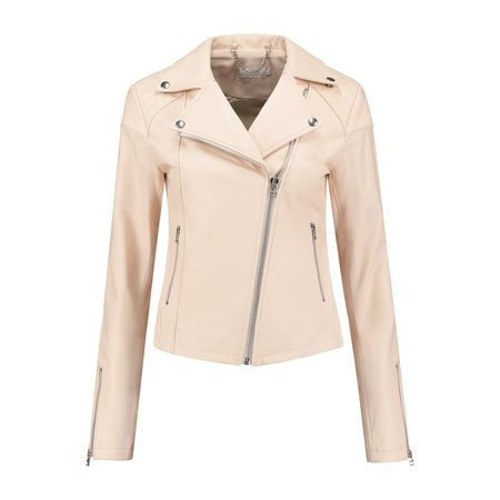 Ignore Maia Eco-Leather Jacket Nude