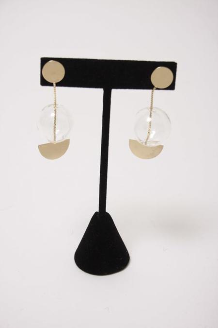 By Boe Glassy Halfmoon Earrings