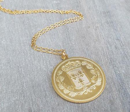HL Large Coin Pendant Necklace