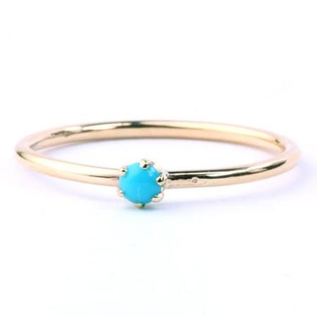 Katie Diamond Turquoise Goldie Ring