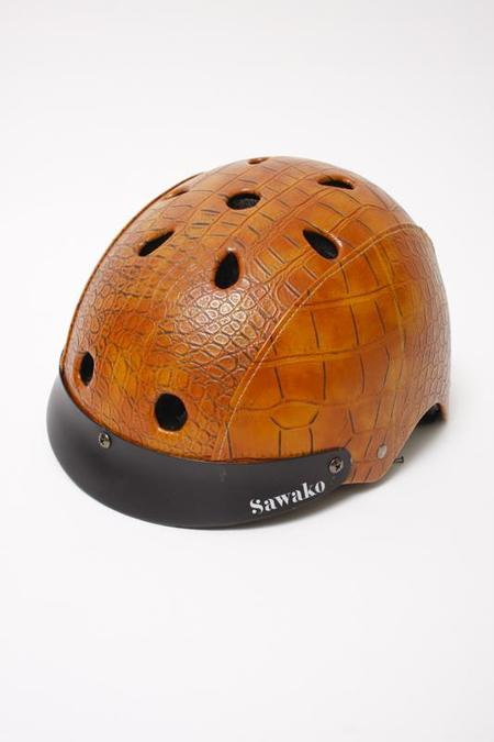 Sawako Furuno Sawako Brown Croc Helmet
