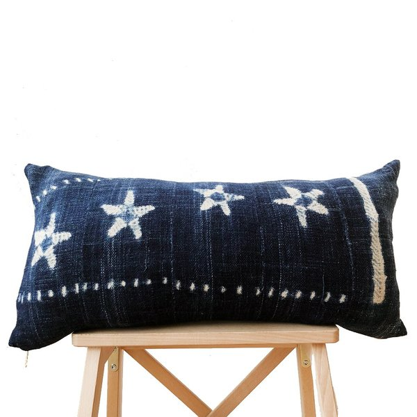 Valiente Goods Lumbar Indigo Pillow No.02