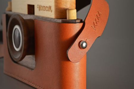 Kids Father's Factory Woodcam leather case