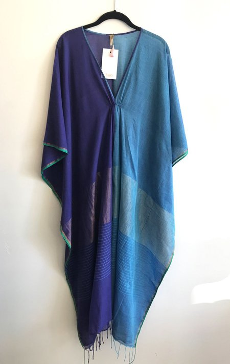Two Colorblock Caftan - Blue