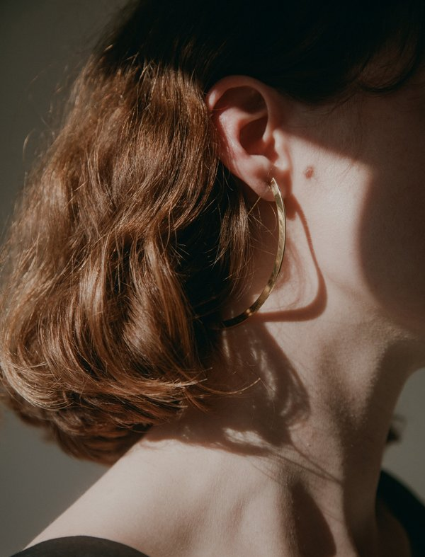 Medley Institute Curved Plate and Wire Earrings