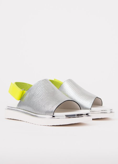 United Nude Terra sandal - Silver/Lime