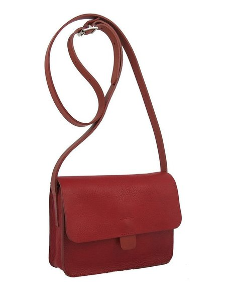 Kate Sheridan Small Tab Bag in Red