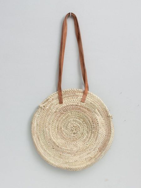 Byron & Blue Moroccan Paige Basket Bag with Leather Straps