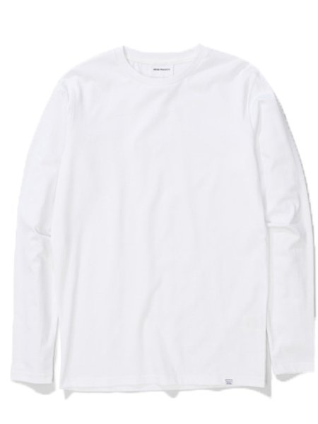 Norse Projects Niels Long Sleeved T-shirt in White
