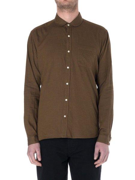 Oliver Spencer Eton Shirt in Cooper Umber