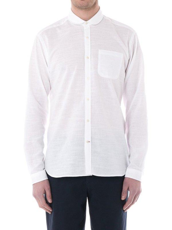 Oliver Spencer Eton Shirt in Elcot White