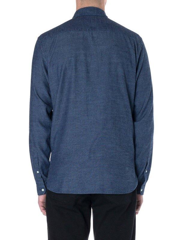 Oliver Spencer Eton Shirt in Kershaw Indigo
