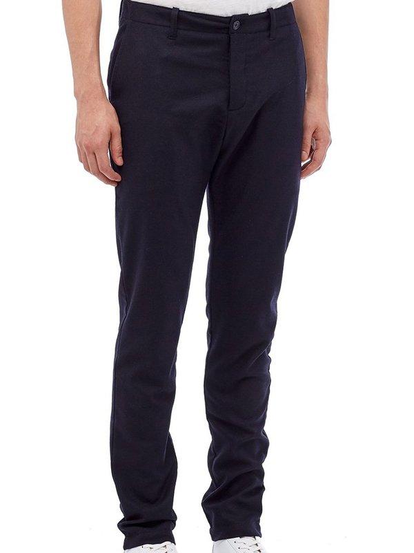 YMC Wool Deja Vu Flannel Trousers in Navy