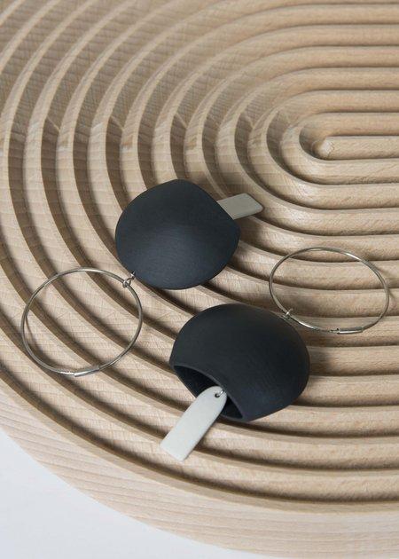 Sara Lanzi Porcelain Bell Earrings - Black