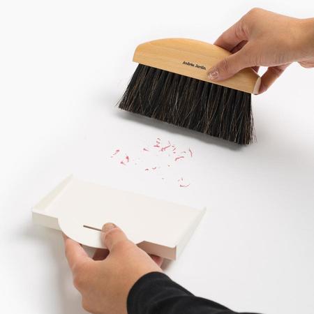 Andree Jardin Mini Brush and Dustpan Set - Cream