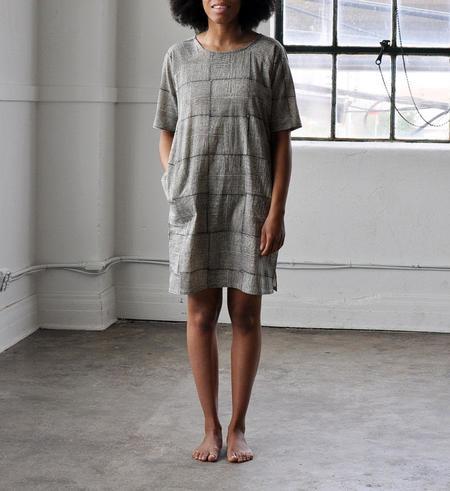 PO-EM Black Grid Day Dress