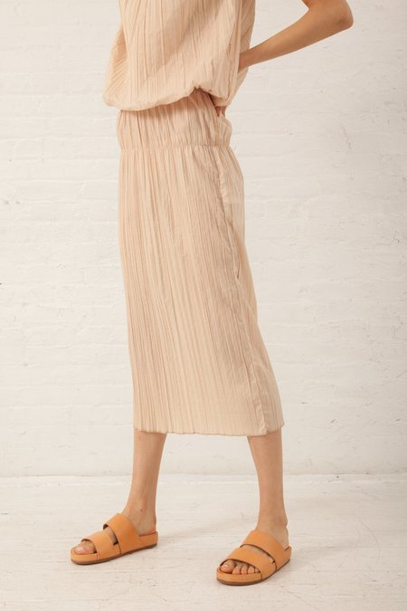 Hache Micro Pleat Skirt - Pale Pink