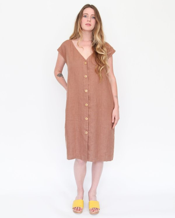 Esby Malia Shift Dress - Pecan