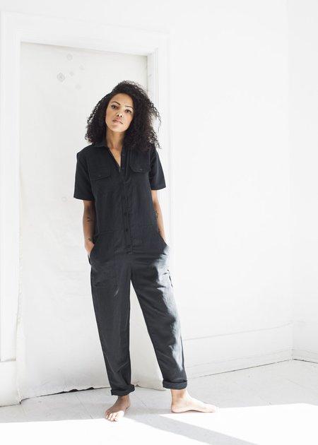 Ozma Painter's Jumpsuit in Black