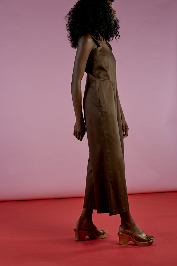 Wolcott : Takemoto Kate Jumpsuit In Mesquite Cotton