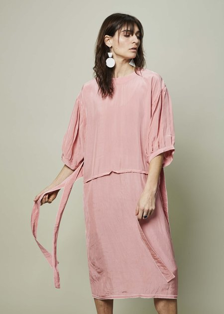 Sara Lanzi Balloon Sleeve Dress - Pink