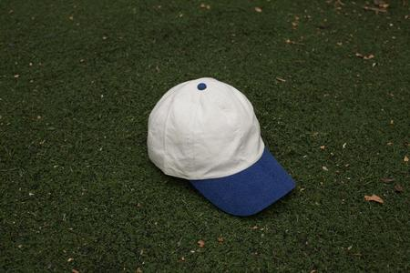 Colorant natural dyed fitted Cap 100% raw silk white/indigo