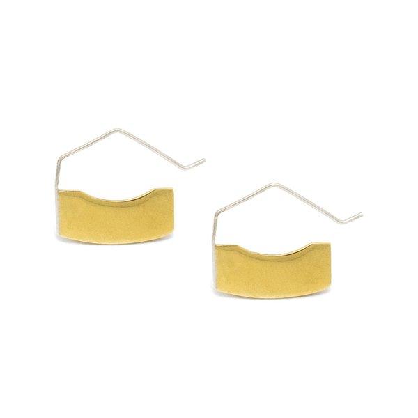 Erin Considine Blade Mini Hoop - Brass