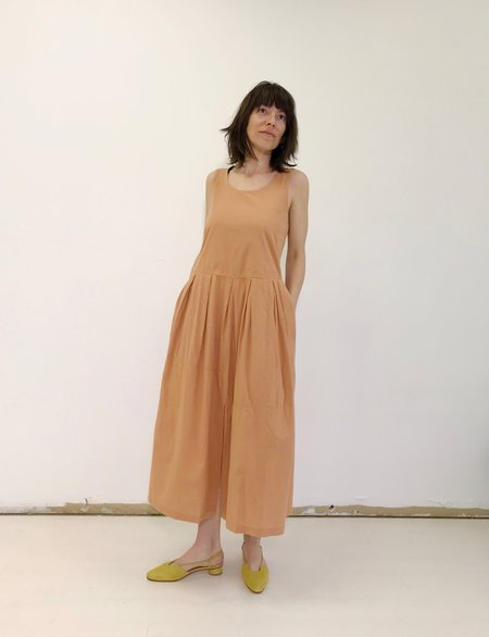 Black Crane Patched Dress in Coral