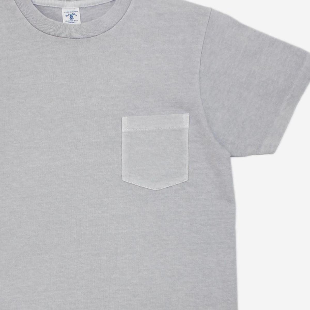 077b715dd1b9 Velva Sheen Pigment Dyed Pocket T-Shirt - Light Grey