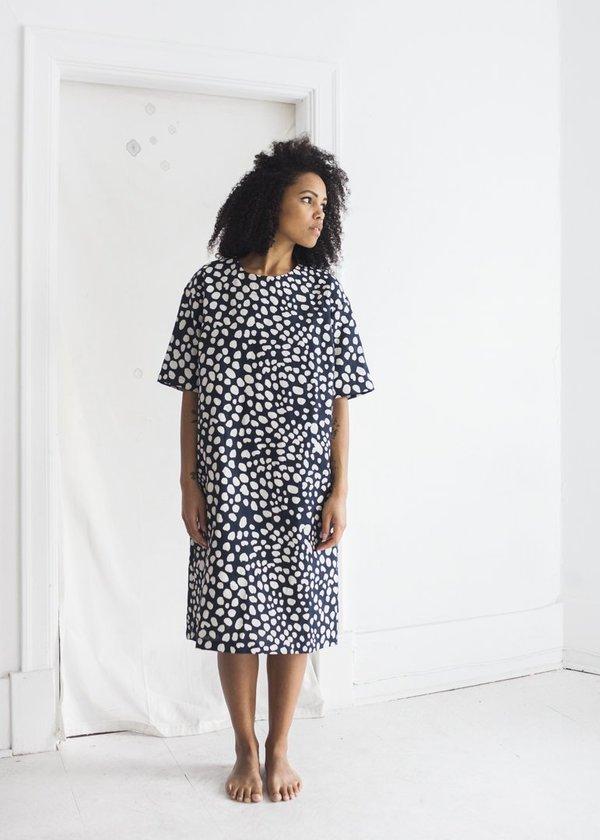 Sunja Link & Banquet Atelier - Navy Dots Dress