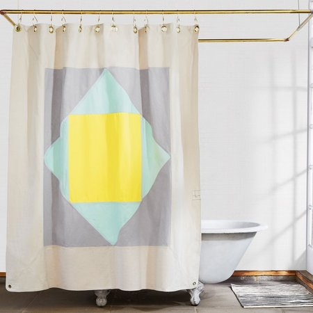 Quiet Town Narlai Shower Curtain - Mint