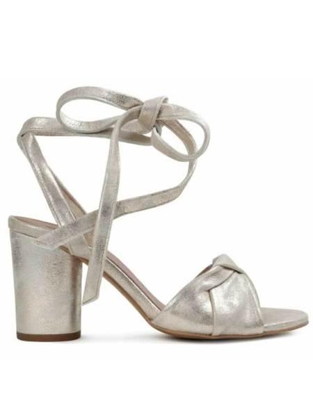 Hudson Figi Tie Strap Heel  - Gold