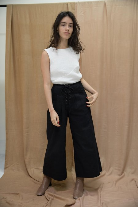 Ajaie Alaie Bottomless Pants in Cotton Twill In Ink