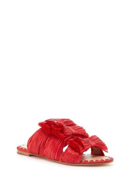 Pour la Victoire Layne - Poppy Leather Raffia