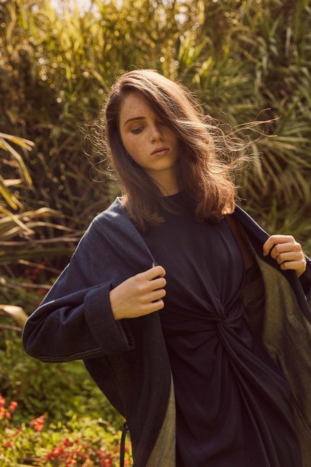 OVNA OVICH Otvet Dress - Indigo Silk