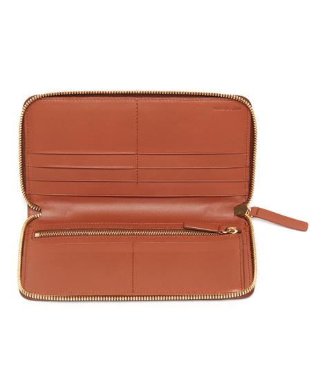 The Stowe Zip Wallet - Cognac