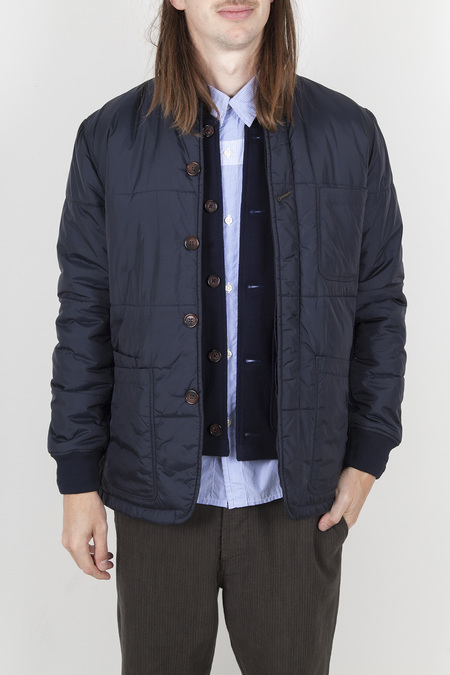Universal Works Quilted Bakers Jacket - Navy