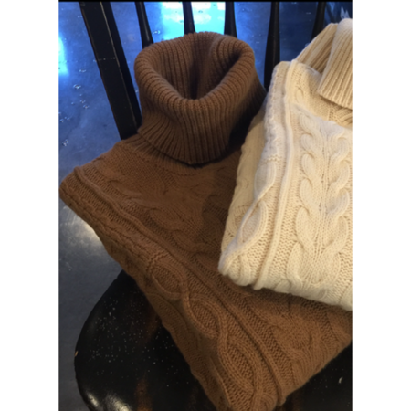 Roberto Collina Cable Knit Roll Neck Sweater