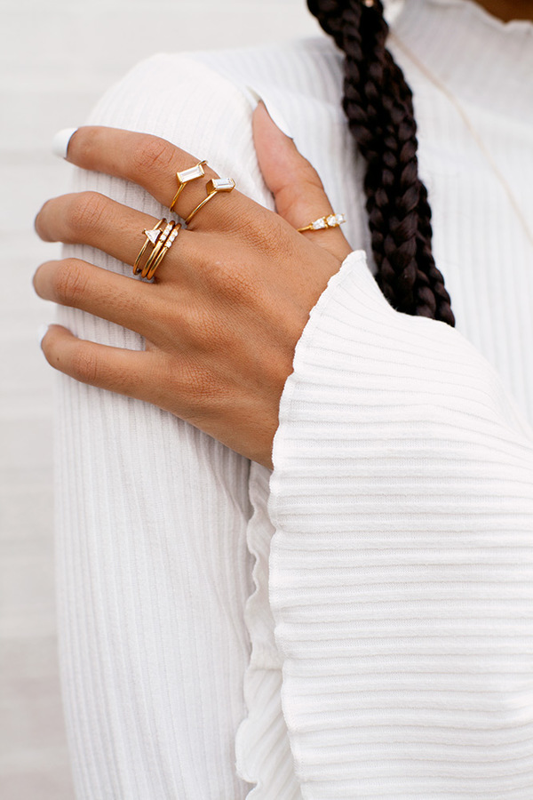 Lindsay Lewis Elston Ring - White
