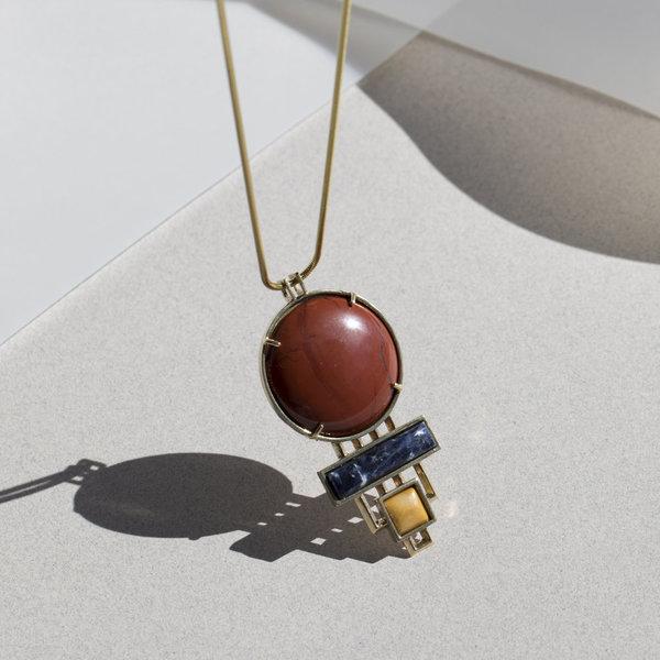 Verna Necklace - Red Jasper