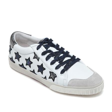Ash Majestic White Chrome Leather Sneaker