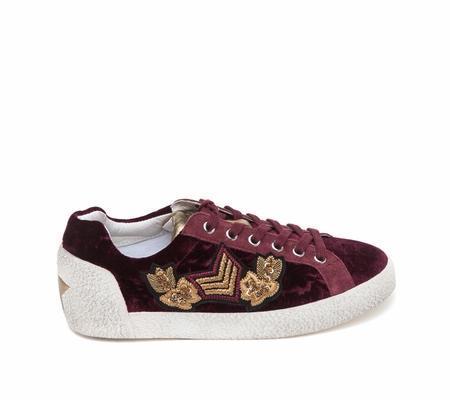 Ash Nad Arms Barolo Velvet Sneaker - Bordeaux