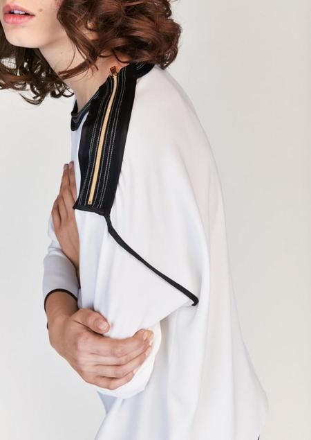 Tara Jarmon Stitched Top - White