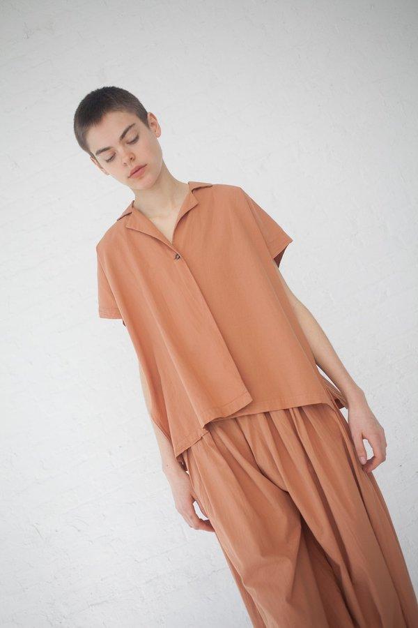 Black Crane Box Shirt - Coral