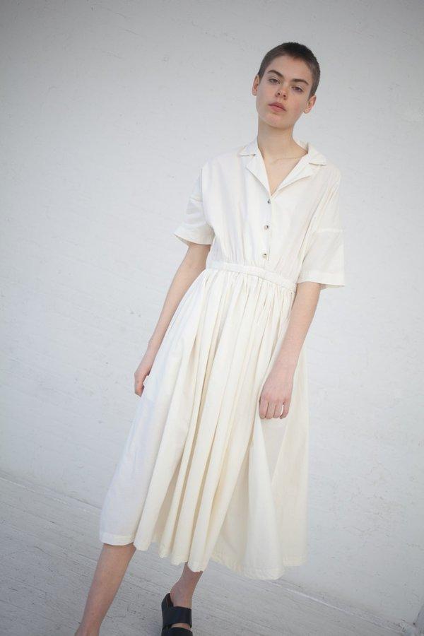 Black Crane Classy Dress - Cream