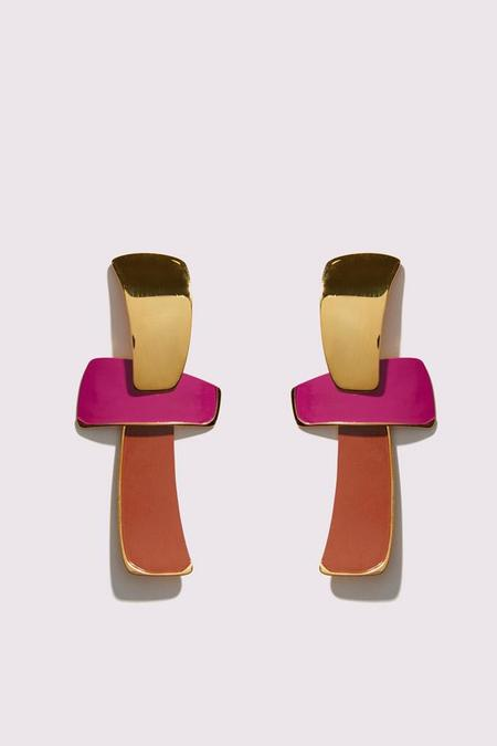 Lizzie Fortunato Ernesto Earrings - Magenta